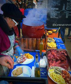 Camden Octopus, Camden Market Street food, January 2015