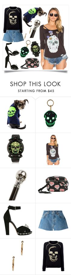 """""""Skull Collection..**"""" by yagna ❤ liked on Polyvore featuring 360 Sweater, Alexander McQueen, Chaser, Levi's, Philipp Plein and vintage"""