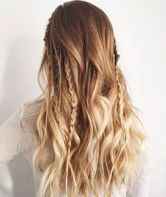 Loving this festive look! Add a few light curls and braids for this awesome look
