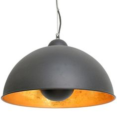 Dome Pendant Lamp - Black and Gold