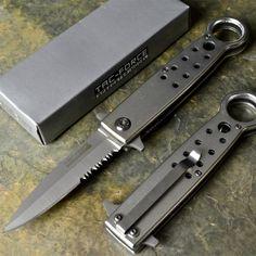 Tac Force New Tactical Combat Speedster Rescue Spring Assisted Open Pocket Knife | eBay