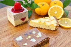 ジュエルローチョコケーキ・ラズベリー&ホワイトローチョコケーキ・ゆずのタルト