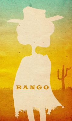 Rango ~ Minimal Movie Poster by Travis English Rango Movie, Disney Animated Movies, Disney Films, Disney Art, Disney Pixar, Crazy Wallpaper, Hero Wallpaper, Minimal Movie Posters, Movies