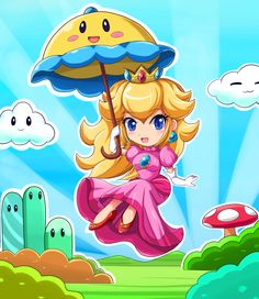 Chibi Super Princess Peach by SigurdHosenfeld on deviantART