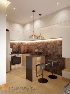 Фото: Кухня-гостиная - Квартира в современном стиле