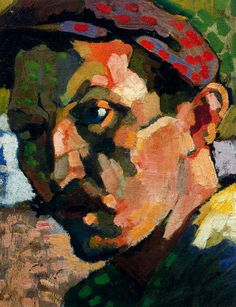 """Self portrait with a cap"" (c.1905), by André Derain.  Art Experience NYC  www.artexperiencenyc.com"