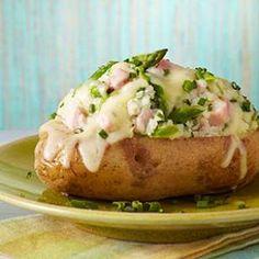 Asparagus & Ham Stuffed Potatoes