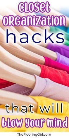 Super useful closet organizing hacks that will blow your mind.  #closet #organization #hacks #usefultips