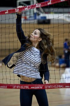Catherine, Duchess of Cambridge attends a Sportaid Athlete Workshop. This pic is a little deceiving because she's wearing heels and has bad form but she's on a volleyball court and she's cute and she's really a princess so all can be forgiven.