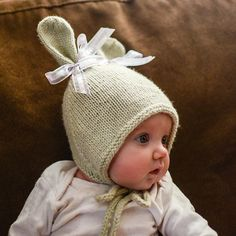 Ravelry: Bunny Hat with Chin Ties pattern by Grumperina