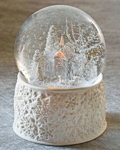 Musical Snowfall Porcelain Glitterdome Musical Snow Globes, I Love Snow, Water Globes, Winter Wonder, Decoration Table, Snowball, Christmas Pictures, Winter Christmas, Merry Christmas