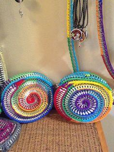 Rainbow pop tab purses (image only)