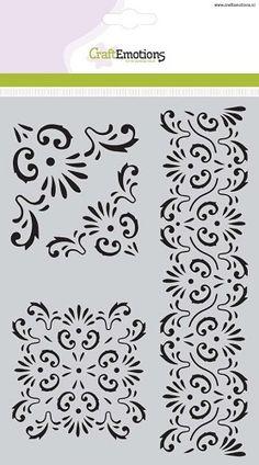 Craft Emotions Mask Stencil - Ornament A5