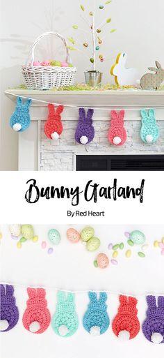 Bunny Garland free crochet pattern in With Love yarn.