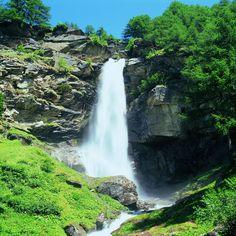 "Saas Grund (Kanton Wallis) - Wasserfall ""Hohsaas"""