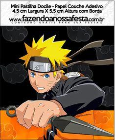 Naruto: Etiquetas para Candy Bar para Imprimir Gratis. Sasunaru, Naruto Shippuden, Boruto, Naruto Birthday, 10th Birthday, Naruto Party Ideas, Naruto Free, Oh My Fiesta, Candy Bar Labels