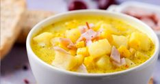 Delicious Ham and Potato Soup Fall Soup Recipes, Ham Recipes, Cooking Recipes, Dinner Recipes, Healthy Recipes, Canning Sweet Corn, Susan Recipe, Ham And Potato Soup, Hot Soup