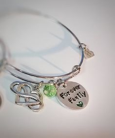Infinity Adoption Bracelets Three With Birthstone On The Symbol One For Birth Mom Mother And