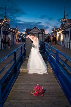 Us on eastboune pier our wedding Venue