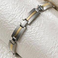 Day 5 Offer - Men's Executive Dress Duet Bracelet - #340 - Was £54.08 Now slashed to £24.34  www.sabona.co.uk/men-s-executive-dress-duet-bracelet-340-c2x17996036