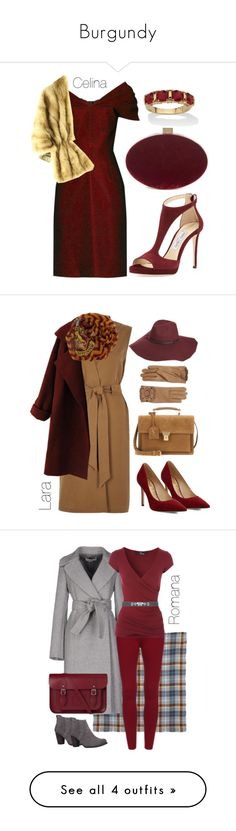 """Burgundy"" by begopuig on Polyvore featuring moda, Emilio De La Morena, Jimmy Choo, Sole Society, Palm Beach Jewelry, River Island, WithChic, Sam Edelman, Yves Saint Laurent y Elope"