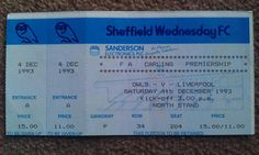 Sheffield Wednesday V Liverpool. Liverpool Football Tickets, Sheffield Wednesday