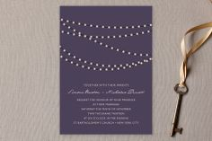 Midnight Vineyard Wedding Invitations by Design Lotus at minted.com