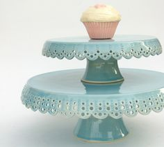 Cake Stand Lace 7 MADE TO ORDER by vesselsandwares on Etsy
