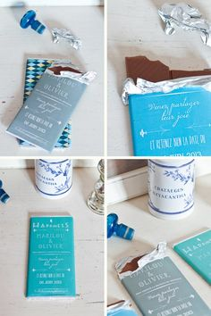 DIY save the date chocolate (or candy.. or anythign! cool idea)