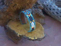 Native American Beaded Bracelet In A Chevron Pattern by LJGreywolf, $60.00