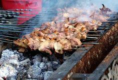 Day 71: Urumchi Urumqi Uruemqi Urumuqi, Sinkiang Xinjiang Uygur Autonomous Region, China, night scene view, roasted mutton cubes kebab   kebabs on spit skewer, Barbecue, BBQ, Chinese Food Foods, Silk Road Route