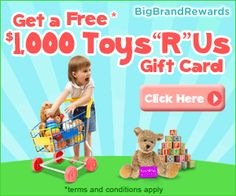 Free $1000 Toys R Us Gift Card