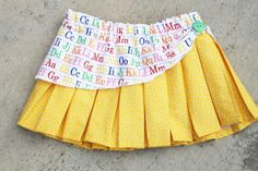 Back to School Sewing : Pleated Peek-a-boo Skirt