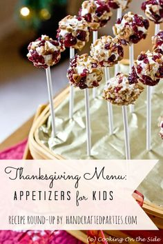 Thanksgiving recipe round-up: appetizers for kids  {Handcrafted Parties}