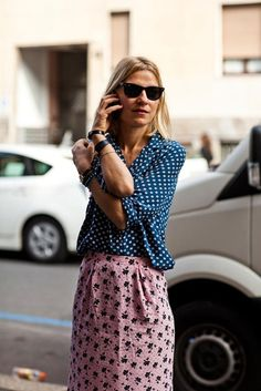 mixed prints. chic.
