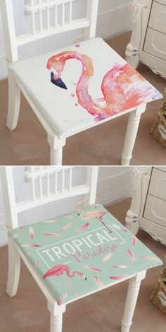 Pink Flamingo Plumage Decorative Seat Cushions #flamingos #flamingodecor #homedecor #homedecoration