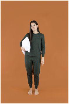 #Pines Xmas Adult Set Dark Green/Brick - AW18-706