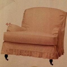 Slipcovered chair in Vintage Sugar  By Lee Industries.