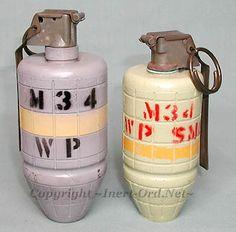 M34 smoke and M34 White P grenades