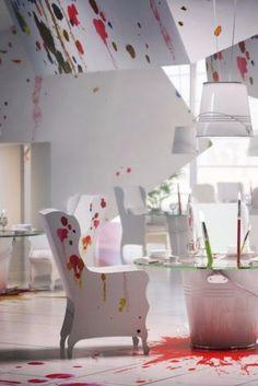 Paint-splattered restaurants are a work of art