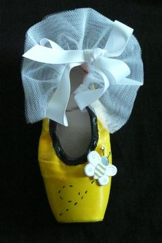 Decorative pointe shoe  bumblebee by PointePerfection1 on Etsy, $15.99