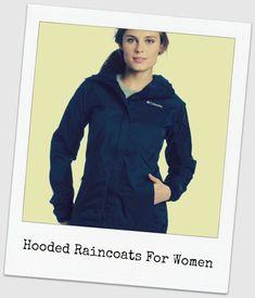 Hooded raincoats for women