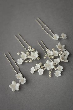wedding hair with headband LAURETTE floral wedding hair pins 4 Floral Wedding Hair, Wedding Hair Pins, Floral Hair, Headpiece Wedding, Bridal Headpieces, Wedding Veils, Wedding Hair Jewelry, Wedding Flowers, Hair Accessories For Women