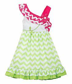 Rare Editions 2T6X ChevronPrintedSkirt Dress #Dillards