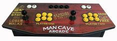 Plug and Play - Arcade Control Panel Man Cave - Game Room Solutions Arcade Control Panel, Man Cave Games, Player One, Game Room, Game Rooms