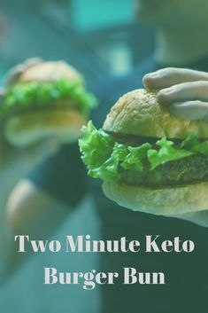 Keto Two Minute Burger Bun. A must try recipe for anyone on the Keto Diet. The key to losing weight with Keto is making sure you have the . Ketogenic Recipes, Ketogenic Diet, Low Carb Recipes, Diet Recipes, Healthy Recipes, Bread Recipes, Keto Burger, Burger Buns, Keto Buns For Burgers