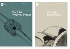 Stanmore Implants brochure covers. Dominic Lippa