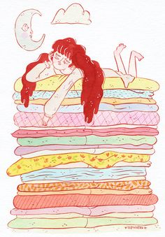 The princess and the Pea, for inktober day 11!