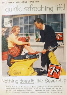 1958 Seven-Up 7-Up Ad