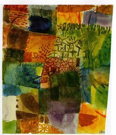 Remembrance of a Garden, 1914 Paul Klee